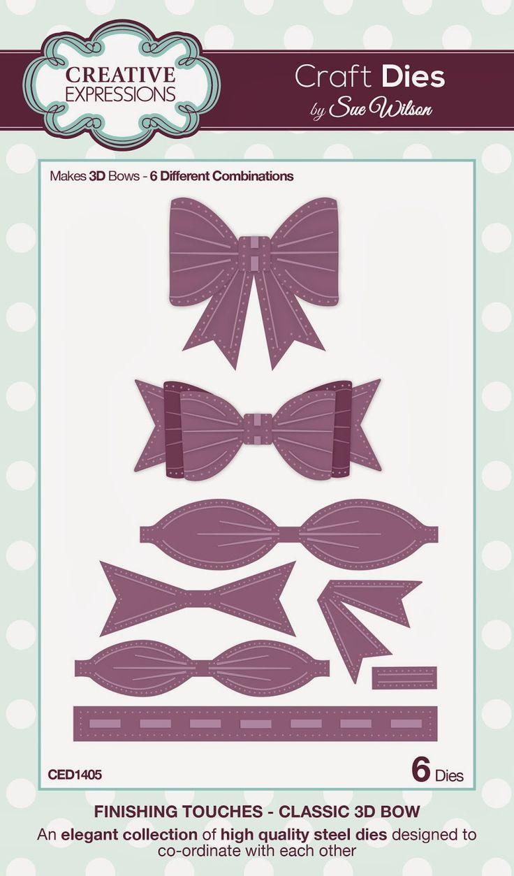 Classic 3D Bow ~ Finishing Touches Collection -- 6 craft dies