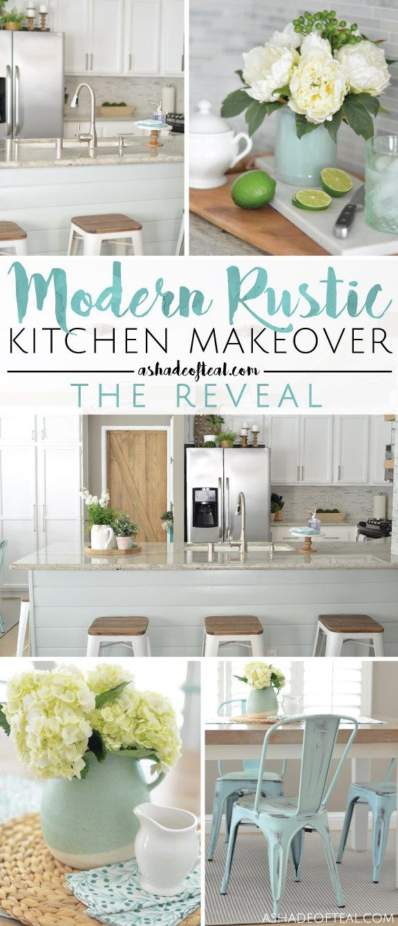 Modern Rustic Kitchen Makeover // ORC Week-6: The Reveal! #oneroomchallenge