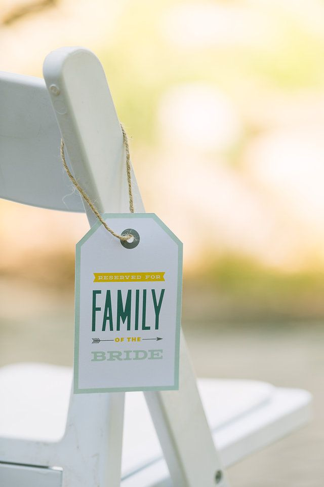 Vintage, Michigan Wedding, Wedding Decor, James Saleska Photography, Wedding Photography, Mustard, Mint, Teal, Peacock, White, Homemade, DIY Wedding, Vintage Wedding, Wedding Decor, Ceremony, Outdoor Wedding, Summer Wedding, Graphic Design, Modern Design, Typography, Family, Reserved Tag, Twine, Arrows