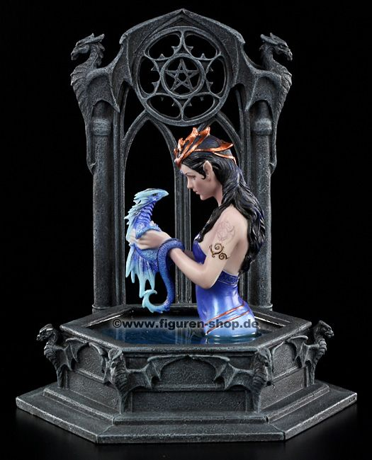 Anne Stokes Fairies   Anne Stokes Figur - Water Dragon - Elfe Drache Fairy Statue   eBay