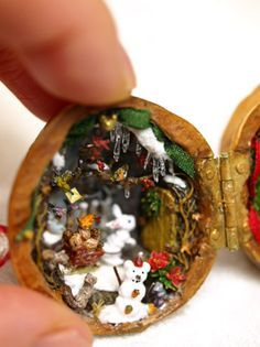 17 best images about walnut shell crafts on pinterest for Tiny shells for crafts