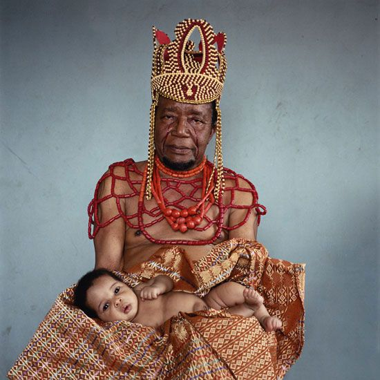 'Dike Ngube & Gold Gabriel', 2008. From the 'Nollywood' series, shot in Nigeria by South African photographer Pieter Hugo.