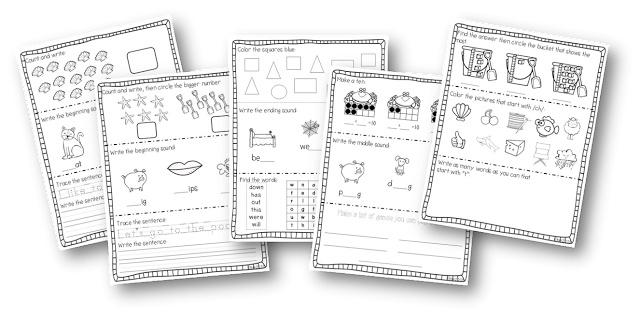 Miss Kindergarten: Ready Made for First Grade! Fun summer practice before entering first grade