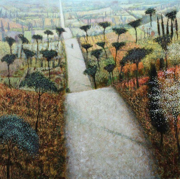 'Long Road' Oil by Simon Garden