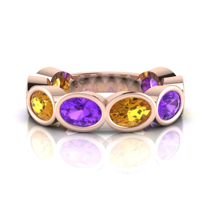 Silver Amethyst and Citrine Ring. R2500  Product Code- WR00136