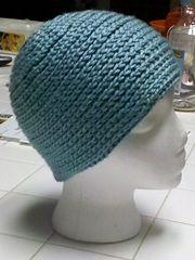 Ravelry: Surface Braid Hat pattern by Amy Depew - crochet stitch that looks like knit stitch