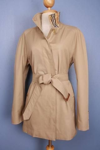 Womens Coat - Womens BURBERRY Bespoke SHORT Trench Coat Mac Beige $199