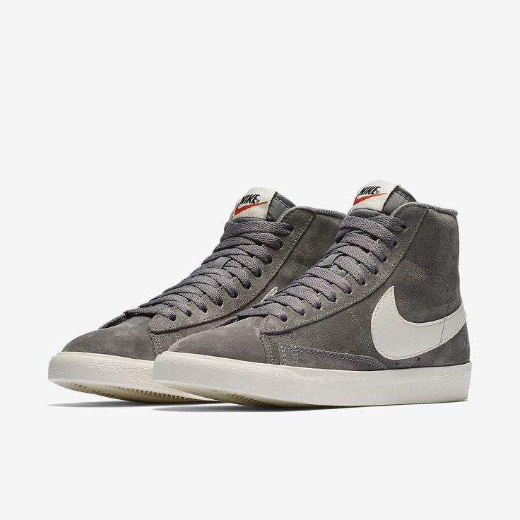 Nike Blazer Gris Mi Premium / Couloirs Blancs