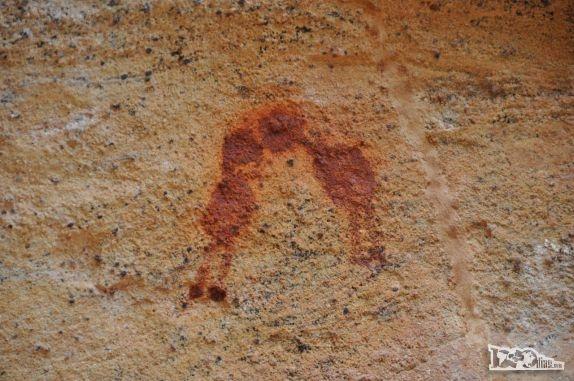 O Beijo - pintura rupestre - Serra da Capivara, São Raimundo Nonato - Piauí