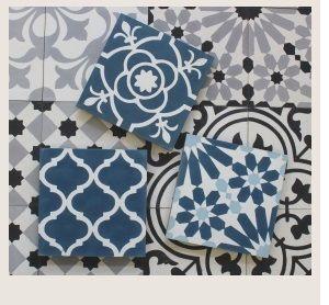 Image result for blue green floor tiles hallway
