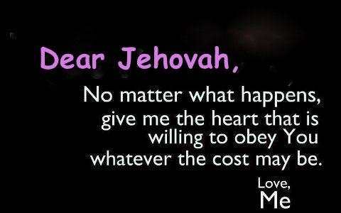 ~ Dear Jehovah ~
