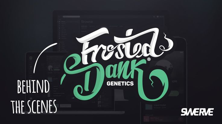 Behind the scenes: Frosted dank Logo Design by Swerve™