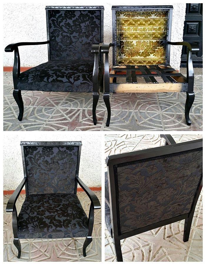M s de 1000 ideas sobre tapizado negro en pinterest - Sillones antiguos tapizados ...