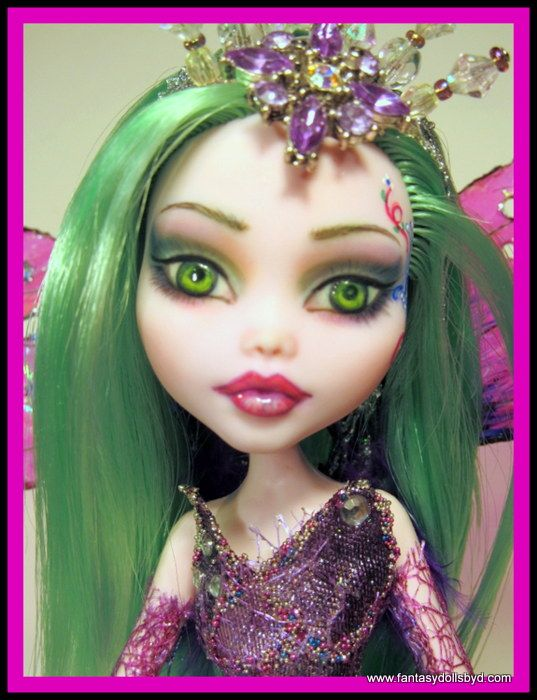 Draculaura Monster High Doll Commission - a Beautiful Fairy destined for life in France. Doll by Donna Anne of www.fantasydollsbyd.com