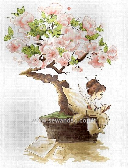Buy The Sakura Cross Stitch Kit Online at www.sewandso.co.uk                                                                                                                                                                                 More