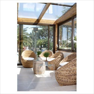 GAP Interiors - Modern conservatory with seating area