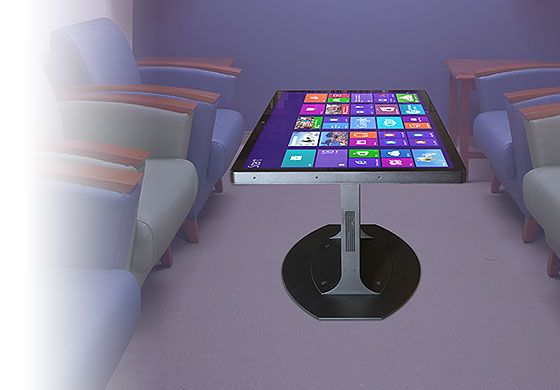 The Platform 46 Coffee Table, featuring the 3M Multi-Touch Display C4667PW, redefines casual computing with a professional quality, ruggedized, complete, turnkey multitouch table. Suitable for home use or public settings. Comes with integrated computer. #Gadgets