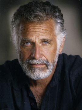 Handsome Gray Haired Man with Matching Beard.