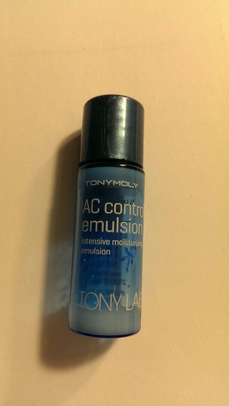 Tonymoly AC control emulsion, intensive moisturizing emulsion. Really nice product, rebuy 😊