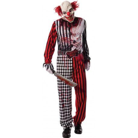Disfraz de Payaso del Infierno para Hombre #Halloween #Clown