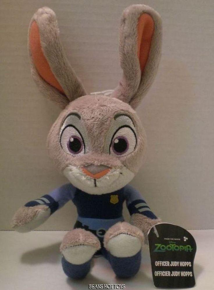 "DISNEY ZOOTOPIA Movie Toy - Officer Judy Hopps 9"" Plush NWT  HTF #TOMY"