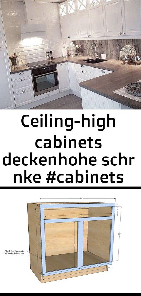 Ceiling High Cabinets Deckenhohe Schr Nke Cabinets Ceilinghigh Deckenhohe Schranke 2 Kitchen Design Diy Small Modern Kitchens Kitchen Cabinet Design