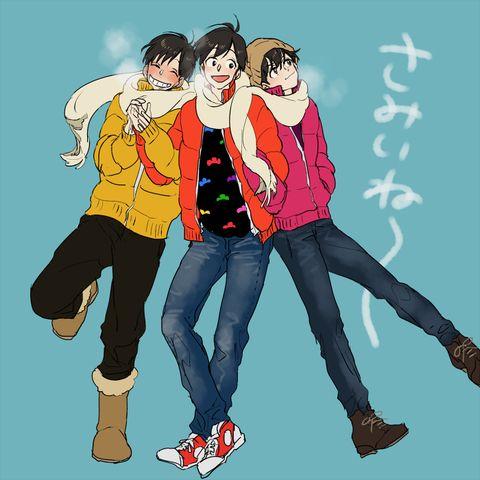 Osomatsu-san- Osomatsu, Jyushimatsu, and Todomatsu #Anime「♡」