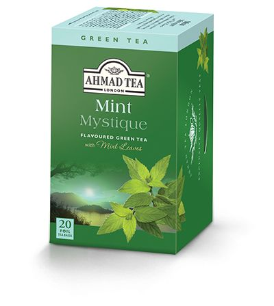 "Ahmad Tea Mint Mystique is another blend of green tea from ""China's Golden Triangle, between the Jiangxi / Anhui / Zhejiang province.""  The nose and taste are dominated by the mint but it's not overpowering, specifically it has a mostly spearmint taste to me.  This could probably be served well by a sweetener.  Nice to try, but just not a big fan of mint tea."