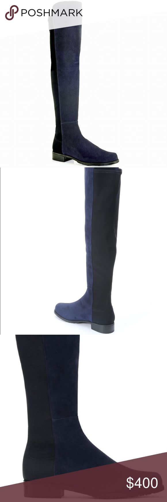 Stuart weitzman  5050 boot NWT in box never worn. Navy and black 5050 boots! Made by Stuart wiseman. So comfortable in works for 9 1/2- 10 Stuart Weitzman Shoes Over the Knee Boots