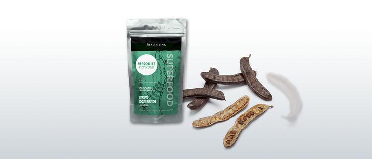 Health Link Mesquite prášok BIO Raw 100g - peterns-world.com