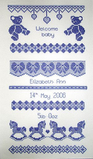 Welcome Baby Blackwork Kit by X-Calibre Designs