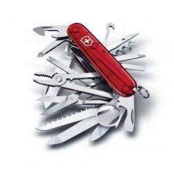 Victorinox Lommekniv - Swiss Champ Transparent  Lommekniven Victorinox Swiss Champ er en af de ultra populære foldeknive over alt i hele verden. Kniven er forsynet med ikke mindre end 33 funktioner/værktøj og er tillige prisbelønnet for sit fremragende og iøjnefaldende design!  http://www.nyttigbras.dk/victorinox/victorinox-lomme-knive-originale-schweizerknive/Victorinox-Lommekniv-Swiss-Champ-Transparent