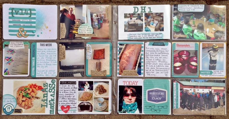 Week 13 using Becky Higgins Aqua Core Kit, made by MiaKL for Scrap-Perra.