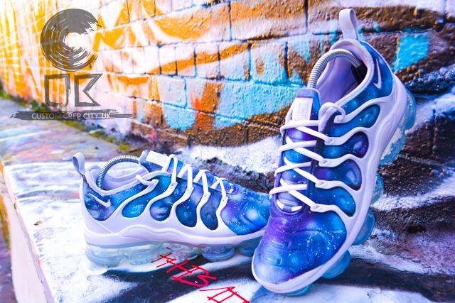Custom Nike Vapormax Plus (Galaxy White