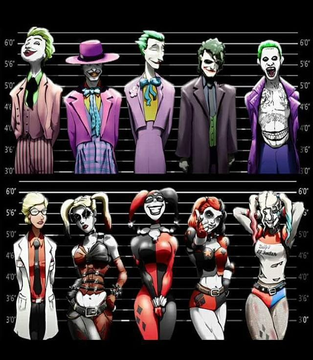 The Joker and Harley Quinn this creative and awesome