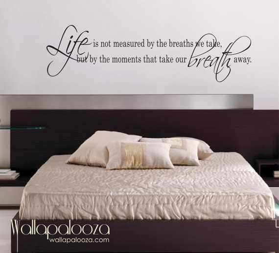 Life Is Not measured wall decal   love wall decal   bedroom wall decal    Inspirational wall decal. 17 Best ideas about Inspirational Wall Decals on Pinterest