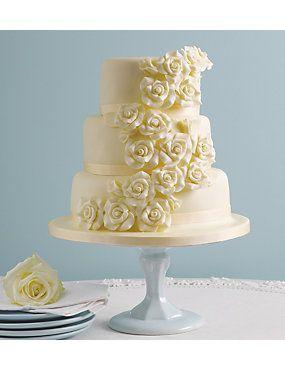 Classic Rose Assorted Wedding Cake http://www.weddingheart.co.uk/marks-and-spencer---wedding-cakes.html