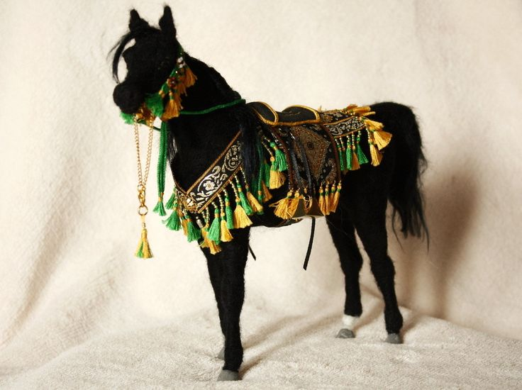 Felted horse sculpture, R. ALI BEY - WITH SPECIAL PERMISSION OF OWNERS: CUMPLUTUM ARABIANS STABLES - Spain by MinzooNeedleFelting