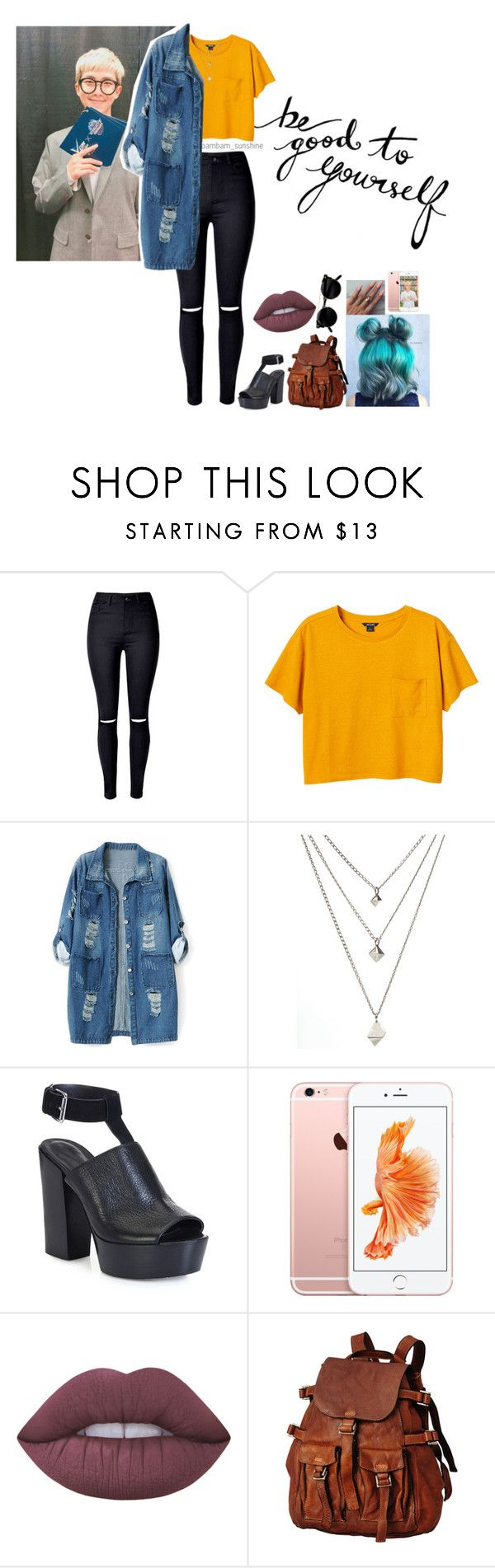"""""""Outfit-KPOP~Rap Monster♥"""" by ayme-vecha ❤ liked on Polyvore featuring WithChic, Monki, Chicnova Fashion, Rebecca Minkoff, Lime Crime, outfit, women, bts and rapmonster"""