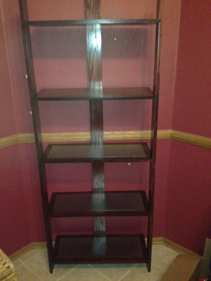 Red Oak Shelf with Stainless steel plated shelves.