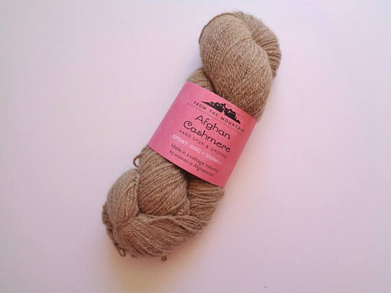 Pure Cashmere Yarn Brown Sport Weight From the Mountain