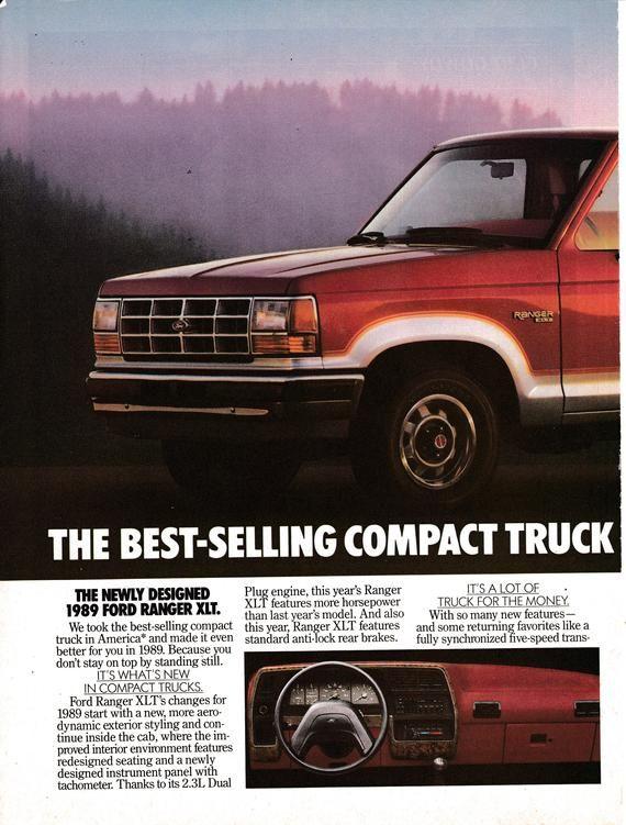 1989 Ford Ranger Xlt Compact Truck 2 3 Liter Engine Original 2 Etsy Ford Ranger Compact Trucks Ford Motor Company