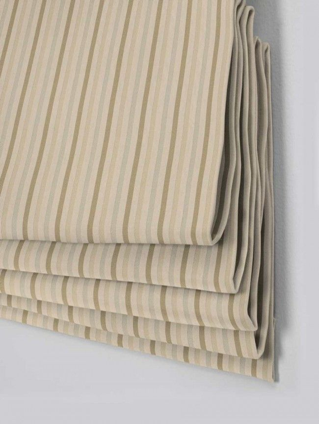 Harper Natural Roman Blind - Direct Order Blinds UK