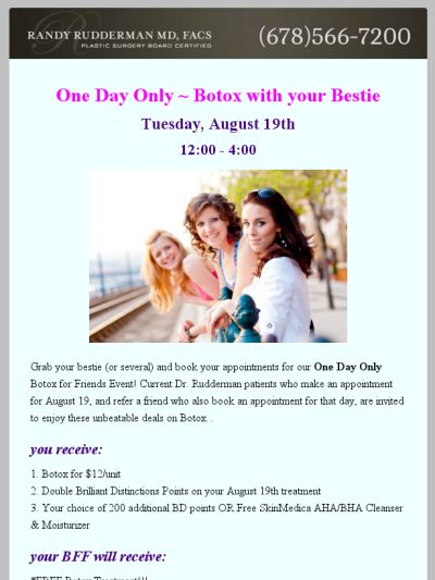 Botox with Besties One Day Event!
