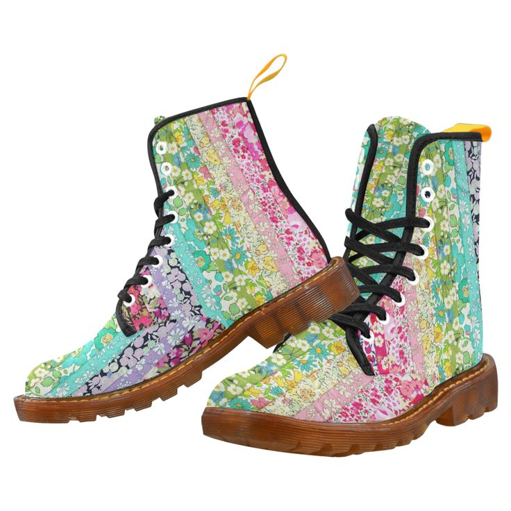 Liberty Rainbow Flowers Martin Boots For Women Model 1203H