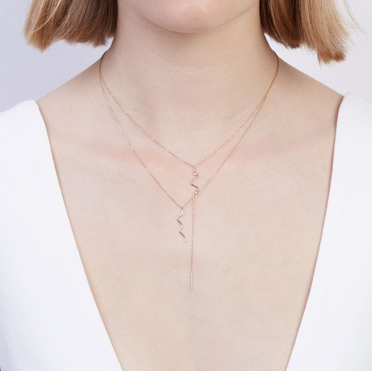 The Sonar Necklace and Long Sonar Necklace by SARAH & SEBASTIAN