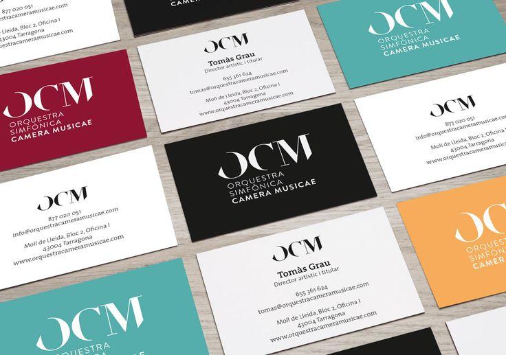 OCM - Orquestra Simfonica Camera Musicae #logo #identity #identitydesign #branding #brandingdesign #cards