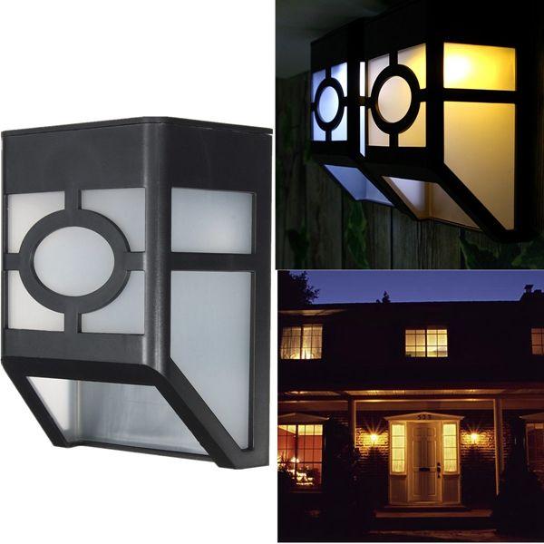 Solar Powered LED Light Sensor Lantern Wall Lamp Outdoor Landscape Garden Fence