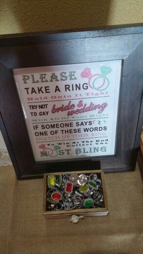 Bridal shower ring game from Etsy