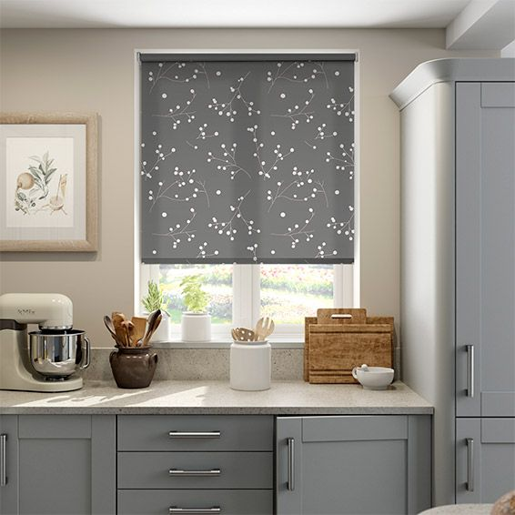 Pod Silver Grey Roller Blind from Blinds 2go